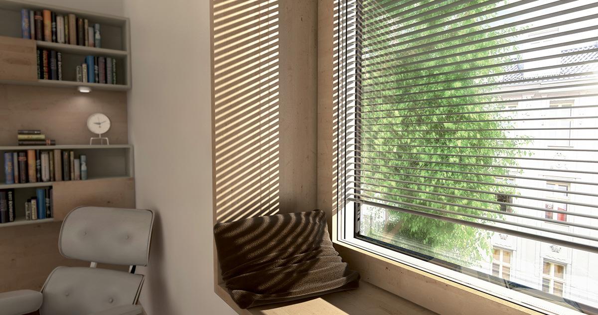 Fenêtre BOIS à store intégré